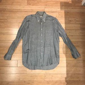 Valentino 100% Cotton Gray Button Down